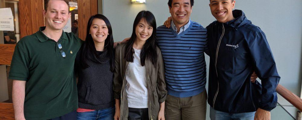 Left to right: David Wilson (MBA '19), Nika Ip (MBA '18), Tiffany Huang (MBA '18), Kenny Tan (MBA '19), Shannon Wilson (MBA '19)